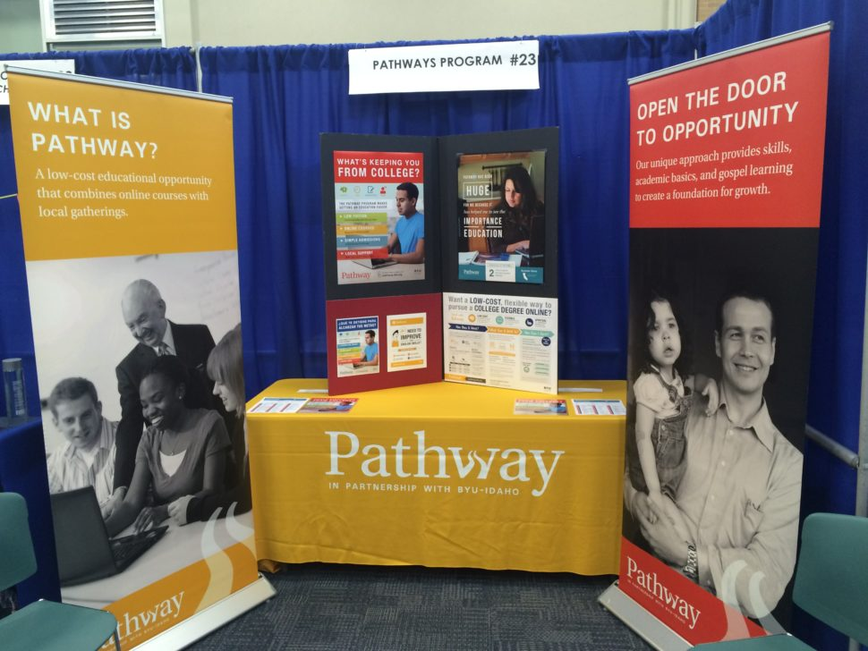 Pathway service missionaries hosted Pathway booth at BYU 2016 Women's Conference