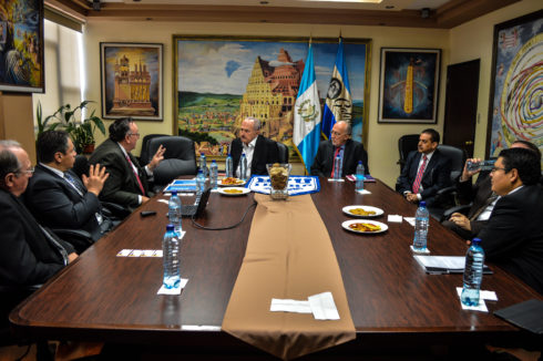 Members of Pathway and BYU-Idaho Online met with representatives of Universidad Galileo and local LDS Self-Reliance Services in Guatemala City, Guatemala.