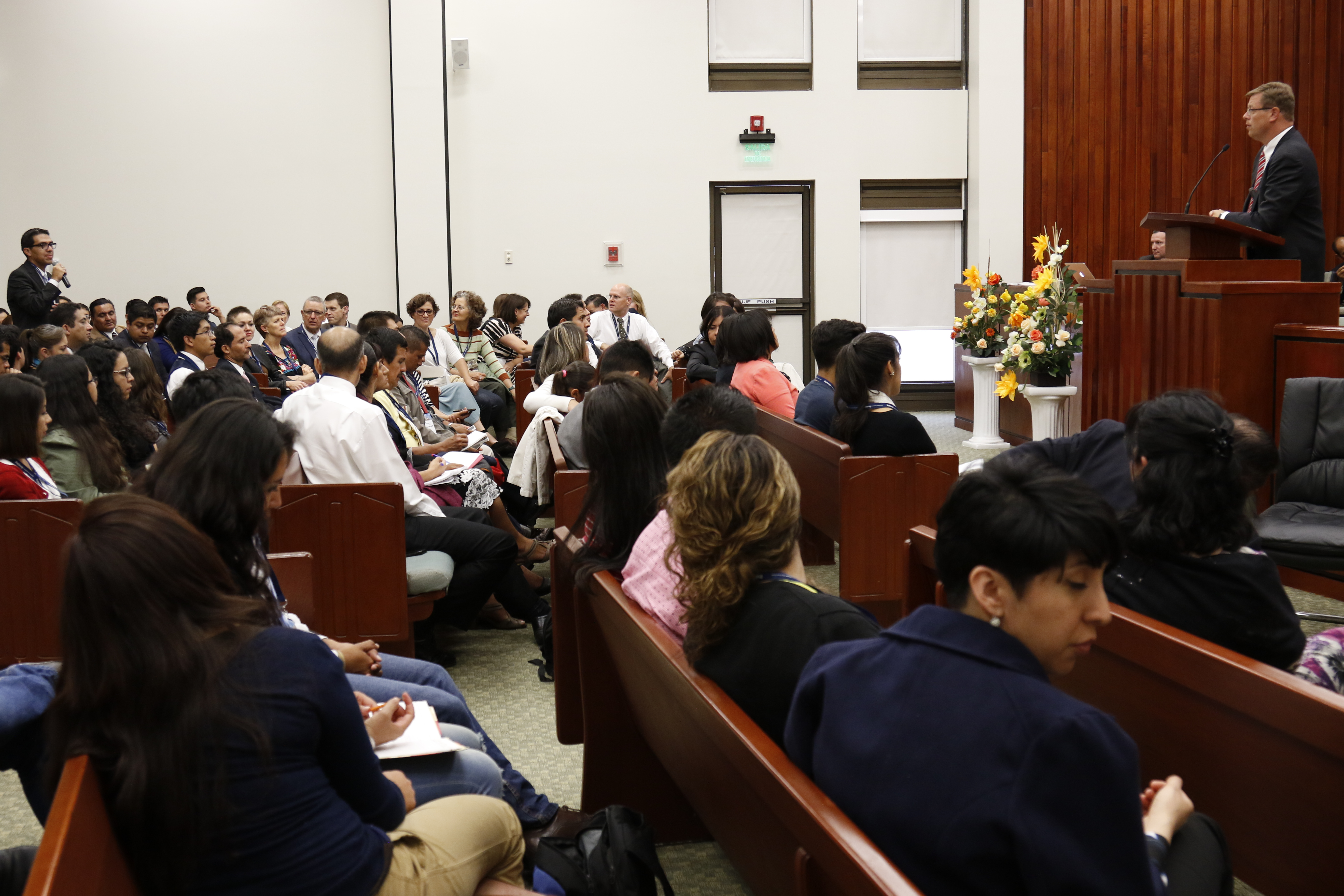 More than 250 students attended the Mexico City Connections Conference in person. Other participants viewed the conference from 52 different locations throughout Mexico.